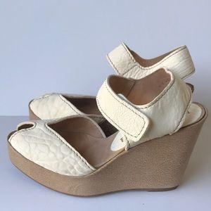 Pedro Garcia Peep Toe Wedge sandals 8